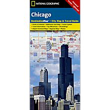 Chicago Destination City Travel and Hiking Map