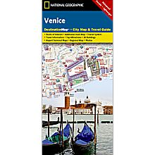 Venice Destination City Travel and Hiking Map