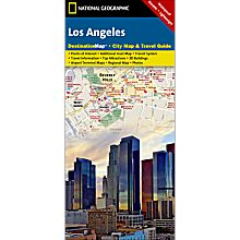 Los Angeles Destination City Travel and Hiking Map