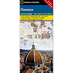 Florence Destination City Travel and Hiking Map