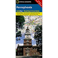 Pennsylvania Guide Travel and Hiking Map