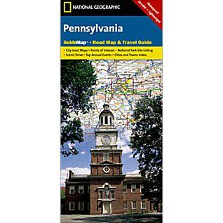 photo: National Geographic Pennsylvania Map us northeast paper map