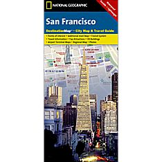 San Francisco Destination City Travel and Hiking Map