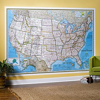 View U.S. Mural Map, Blue Ocean image