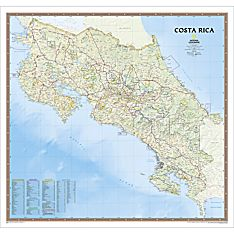 Costa Rica Political Map, Laminated
