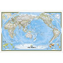 World Classic Pacific-centered Map, Laminated