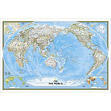 World Classic Pacific-Centered Map, Enlarged, 2007