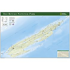 Isle Royale National Park Travel and Hiking Map Poster