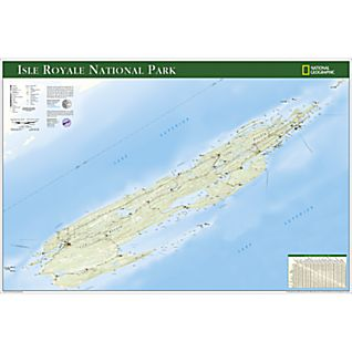 Isle Royale National Park Map Poster