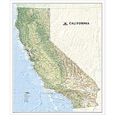 California Wall Map, Laminated, 2008
