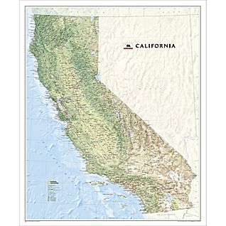 California Wall Map, Laminated