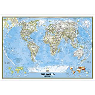View World Political Map (Classic), Poster Size and Laminated image
