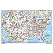 U.S. Political Map (Classic), Poster Size and Laminated
