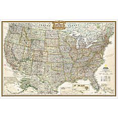 Laminated us Map Poster