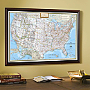 National Geographic ''My U.S.'' Personalized Map (Classic)