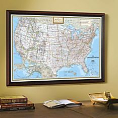 Travel Map with Black Frame