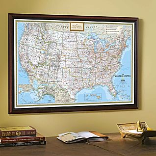 View National Geographic ''My U.S.'' Personalized Map (Classic) image