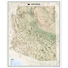 Arizona Wall Map, Laminated