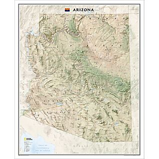 View Arizona Wall Map, Laminated image