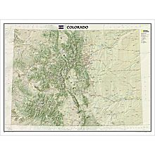 Colorado State Map Mountains