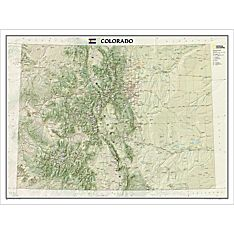 Colorado Wall Map, Laminated