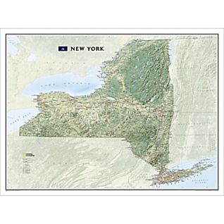 New York State Wall Map, Laminated