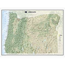 Oregon Wall Map, 2009