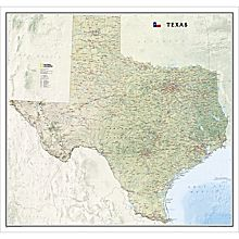 Texas Wall Map, 2009