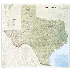 Texas Wall Map, Laminated