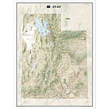 Utah Wall Map, Laminated, 2009