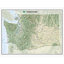 Washington State Wall Map, Laminated, 2009