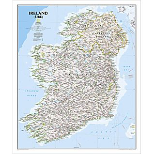 Ireland Political Map (Classic), Laminated