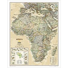 Africa Political Wall Map (Earth-Toned), Laminated