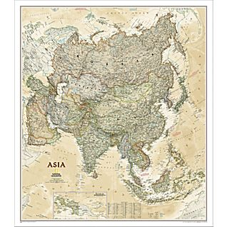 View Asia Political Map (Earth-toned), Laminated image