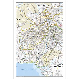 Afghanistan and Pakistan Political Map