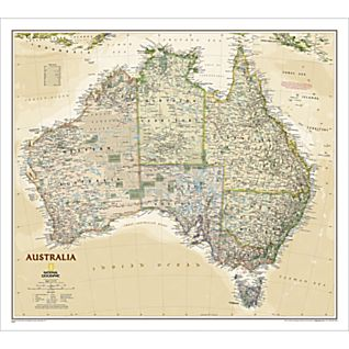 View Australia Political Map (Earth-toned), Laminated image