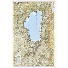 Lake Tahoe Basin Map, Laminated