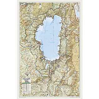 View Lake Tahoe Basin Map, Laminated image