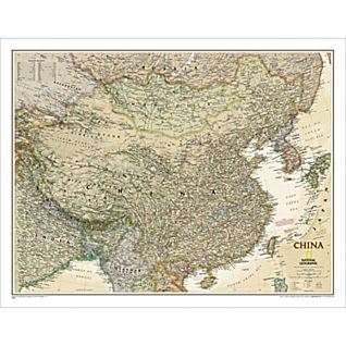 China Political Map (Earth-toned)