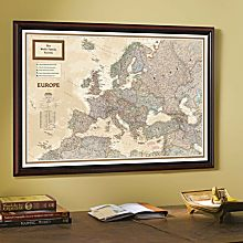'My Europe' Personalized Wall Map (Earth-Toned)