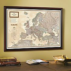 Framed Travel Map of the World