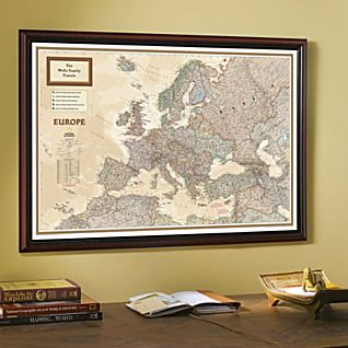 View National Geographic ''My Europe'' Personalized Map (Earth-toned) image