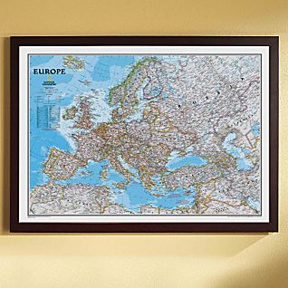 View Europe Political Map (Classic), Framed image