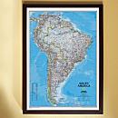 South America Political Map (Classic), Framed