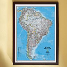 South America Political Wall Map (Classic), Framed
