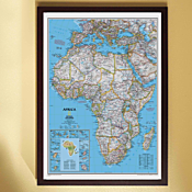 Africa Political Map (Classic), Framed