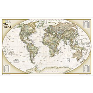 View World Explorer Map (Earth-toned), Laminated image