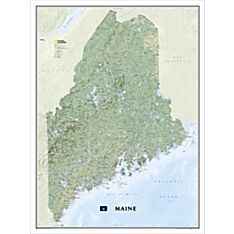 Maine Wall Map, Laminated, 2010
