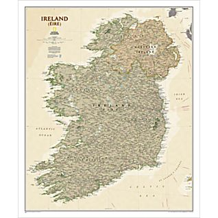 Ireland Political Map (Earth-toned)
