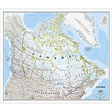 Canada Political Map (Classic), Laminated